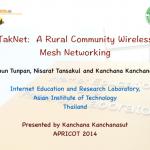 TakNet: A Rural Community Wireless Mesh Networking